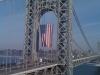 George Washington Bridge with flag (NJ Tower)
