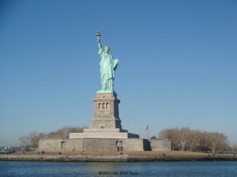 The Statue of Liberty from the bay