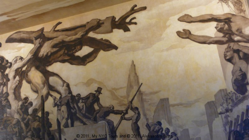 Rockefeller Center lobby painting