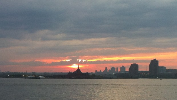 Sunset over Liberty State Park, NJ